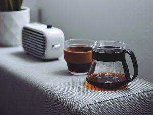 having coffee together